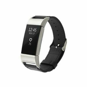 Fitbit Charge 2 bandje leer zwart_002