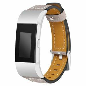 Fitbit Charge 2 bandjes leer kaki_002