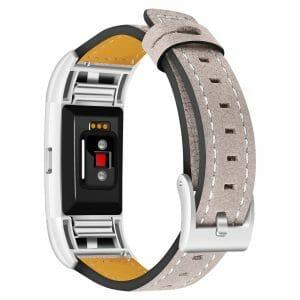 Fitbit Charge 2 bandjes leer kaki_003