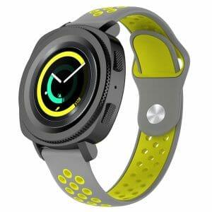 Samsung Gear Sport bandje grijs - geel_003