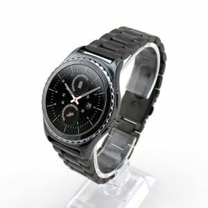 Samsung Gear S3 bandje RVS zwart metaal-005