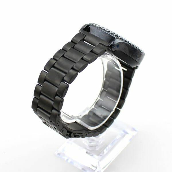 Samsung Gear S3 bandje RVS zwart metaal-007