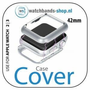 42mm beschermende Magnetisch adsorptieontwerp Case Cover Protector Apple watch 2 - 3 Zilver_001