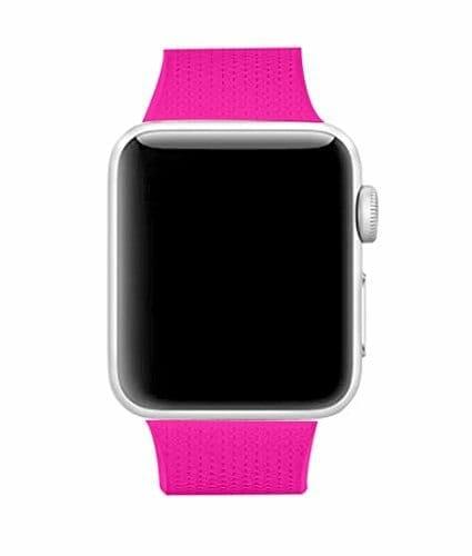 42mm en 44mm Sport bandje barbie pink geschikt voor Apple watch 1 - 2 - 3 - 4 _001