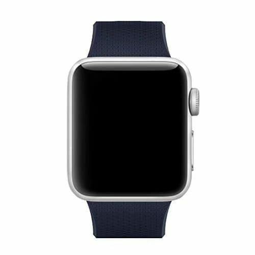 42mm en 44mm Sport bandje midnight blue geschikt voor Apple watch 1 - 2 - 3 - 4 _001