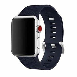 42mm en 44mm Sport bandje midnight blue geschikt voor Apple watch 1 - 2 - 3 - 4 _002