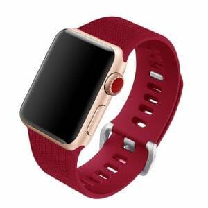 42mm en 44mm Sport bandje rose red geschikt voor Apple watch 1 - 2 - 3 - 4 _001