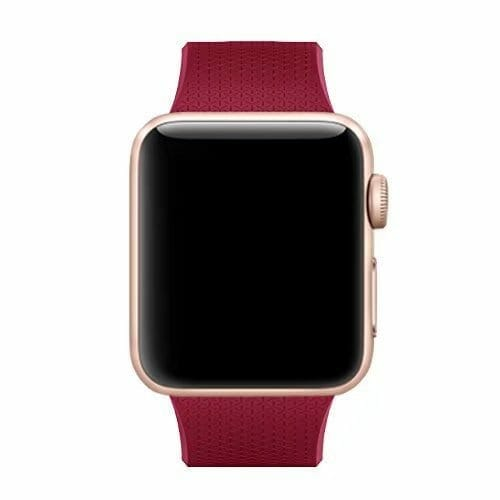 42mm en 44mm Sport bandje rose red geschikt voor Apple watch 1 - 2 - 3 - 4 _002