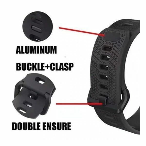 42mm en 44mm Sport bandje zwart geschikt voor Apple watch 1 - 2 - 3 - 4 _003