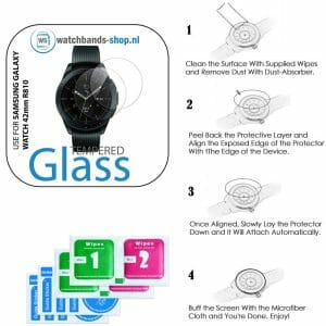 Screen protector voor de Samsung Galaxy watch 42mm R810_008