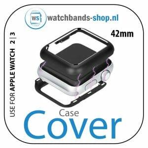 42mm beschermende Magnetisch Case Cover Protector Apple watch 2 - 3 zwart_1002