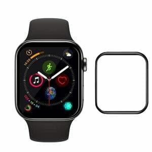 40mm full Cover 3D Tempered Glass Screen Protector For Apple watch 4 black edge_1003