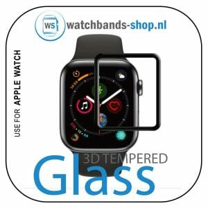 40mm full Cover 3D Tempered Glass Screen Protector For Apple watch 4 black edge_1004