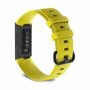 Bandje geschikt voor Fitbit Charge 3 SMALL – geel