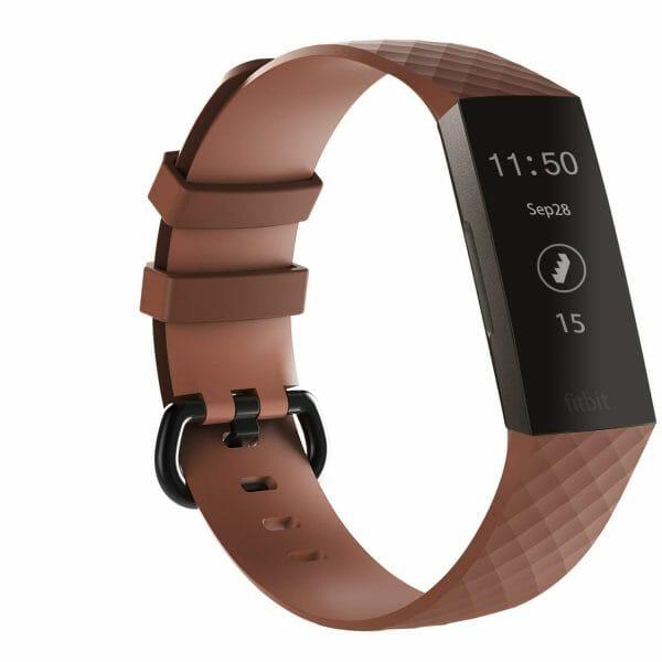 Bandje geschikt voor Fitbit Charge 3 SMALL – koffie