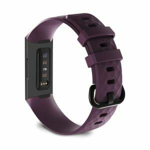 Bandje geschikt voor Fitbit Charge 3 SMALL – paars