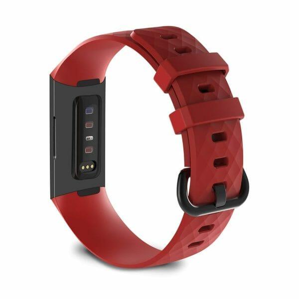 Bandje geschikt voor Fitbit Charge 3 SMALL – rood