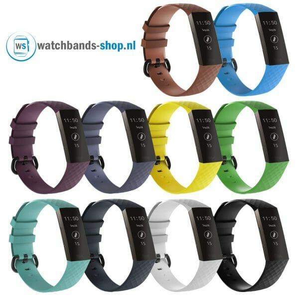 Bandje geschikt voor Fitbit Charge 3 SMALL – zwart_006