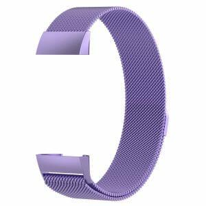 RVS paars kleurig metalen milanese loop bandje armband voor de Fitbit Charge 3_003