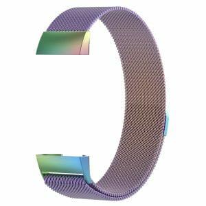 RVS regenboog kleurig metalen milanese loop bandje armband voor de Fitbit Charge 3_004