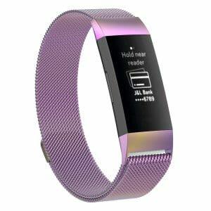 RVS regenboog kleurig metalen milanese loop bandje armband voor de Fitbit Charge 3_005