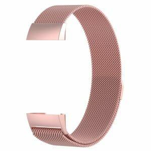 RVS rose goud kleurig metalen milanese loop bandje armband voor de Fitbit Charge 3_001