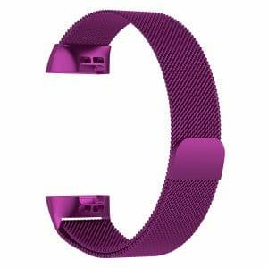 RVS rose pink kleurig metalen milanese loop bandje armband voor de Fitbit Charge 3_009