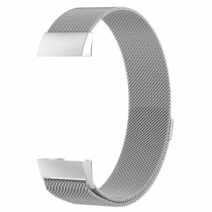 RVS zilver kleurig metalen milanese loop bandje armband voor de Fitbit Charge 3
