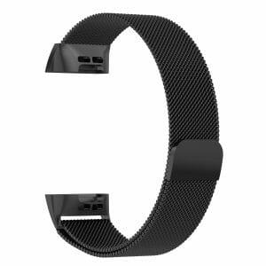 RVS zwart kleurig metalen milanese loop bandje armband voor de Fitbit Charge 3_009