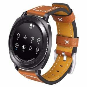Samsung Gear Sport 20mm bandje Samsung Galaxy 42mm bandje SM-R810 leer bruin_001