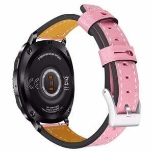 Samsung Gear Sport 20mm bandje Samsung Galaxy 42mm bandje SM-R810 leer roze_002