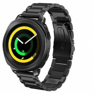 Samsung Gear Sport bandje Galaxy Watch 42mm SM-R810 Galaxy Watch 42mm SM-R810 RVS Zwart Metaal_012