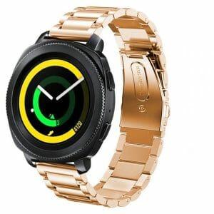 Samsung Gear Sport bandje Galaxy Watch 42mm SM-R810 Galaxy Watch 42mm SM-R810 RVS rose goud Metaal_003