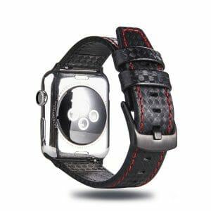 Leren-apple-watch-bandje-Zwart-Rood-met-klassieke-zwarte-gesp-3.jpg