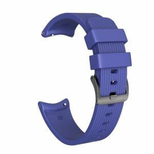 Bandje Voor de Samsung Gear S3 Classic - Frontier - Siliconen Samsung Galaxy Watch 46mm - donkerblauw_0002002
