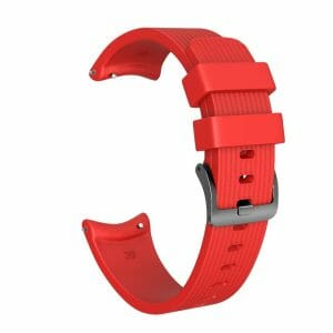 Bandje Voor de Samsung Gear S3 Classic - Frontier - Siliconen Samsung Galaxy Watch 46mm -rood_0002004