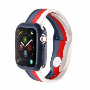 Apple watch 4 en 5 bandje 38mm - 40mm small siliconen blauw - grijs - rood - wit_001