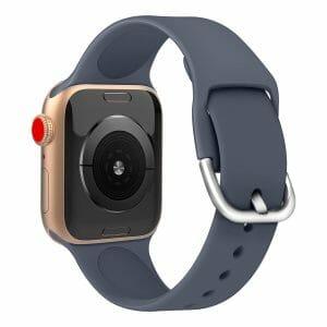 Apple watch bandje silicone met D sluiting 42mm-44mm donkergrijs_006