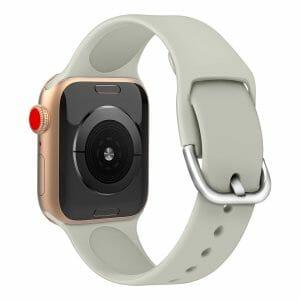 Apple watch bandje silicone met D sluiting 42mm-44mm grijs_006