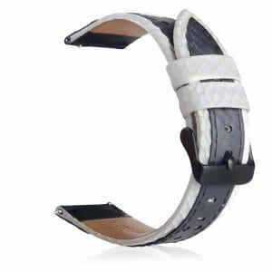 Leren bandje Samsung Gear S3 - Galaxy Watch 46mm SM-R810 wit_005