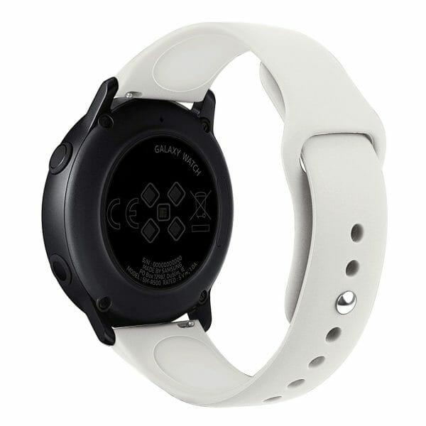 Samsung Gear Sport bandje Samsung galaxy watch active 1 - 2 Galaxy Watch 42mm SM-R810 bandje silicone beige 20mm-001
