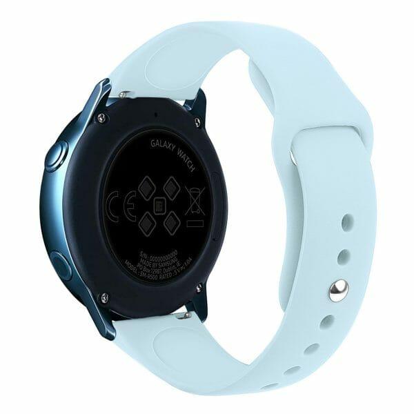 Samsung Gear Sport bandje Samsung galaxy watch active 1 - 2 Galaxy Watch 42mm SM-R810 bandje silicone lichtblauw 20mm-001